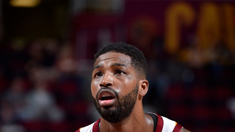 Tristan Thompson #13 of the Cleveland Cavaliers shoots the ball against the Indiana Pacers during a pre-season game on October 8, 2018 at Quicken Loans Arena, in Cleveland, Ohio