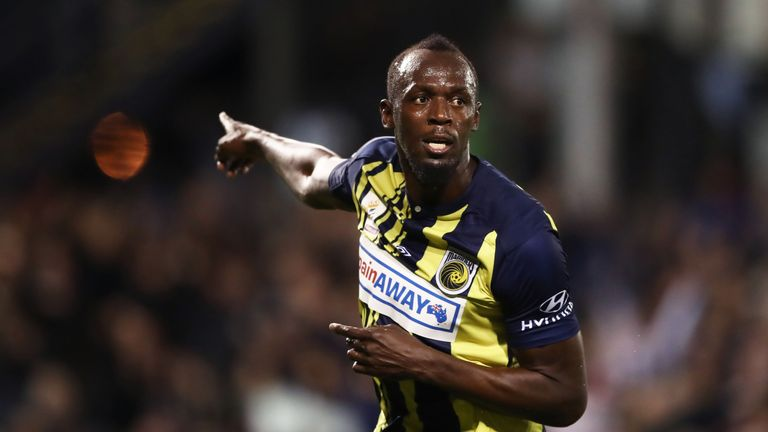 Usain Bolt featured in two trial games for A-League side Central Coast Mariners