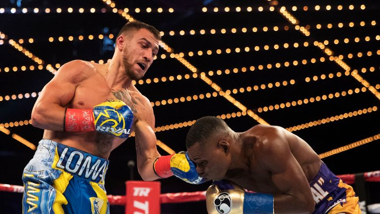 Lomachenko beat Rigondeaux in the first fight between two double Olympic champions