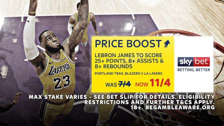 Sky Bet NBA Price Boost
