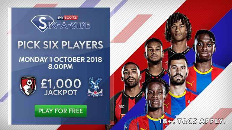 Play Sky Sports Six-a-Side to win the £1k jackpot