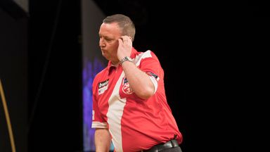 Glen Durrant couldn't believe his misfortune as he was dumped out of the Grand Slam of Darts