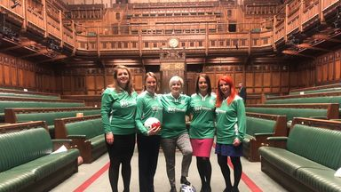 The team cancelled a game on Tuesday to be in parliament for votes (Pic: @HannahB4LiviMP)