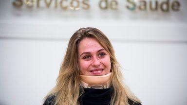 Sophia Floersch underwent surgery on her fractured spine