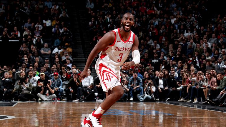 Chris Paul leads the Houston Rockets to victory in Brooklyn
