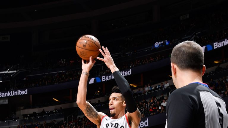 Danny Green fires a jump shot against the Orlando Magic