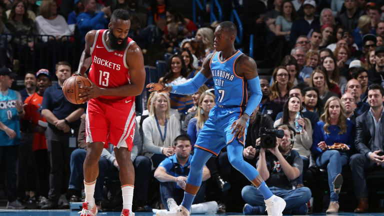 James Harden was kept in check by Oklahoma City