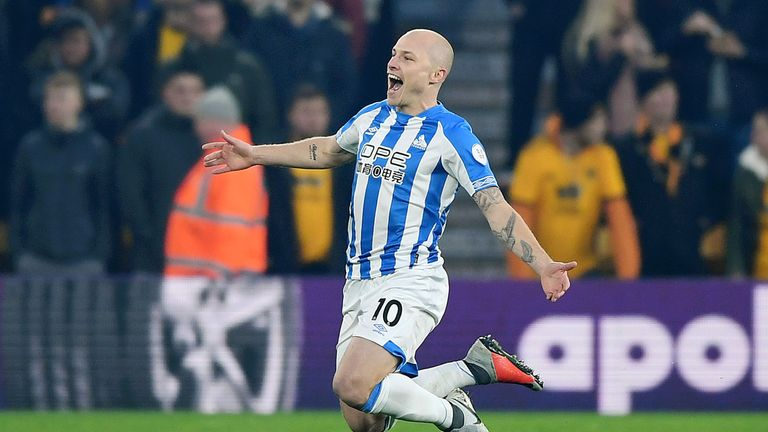 Aaron Mooy starred for Huddersfield with a double