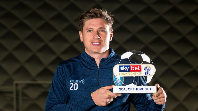 Adam Reach of Sheffield Wednesday wins the Sky Bet Championship Goal of the Month award for November