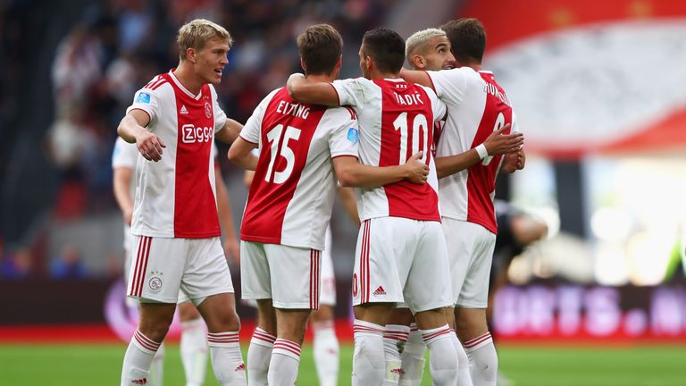 Donny van de Beek scored twice for Ajax