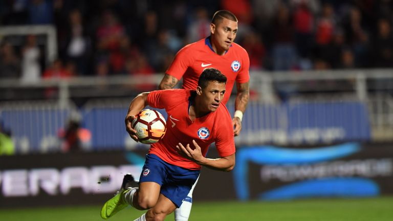 Alexis Sanchez scored for Chile against Costa Rica