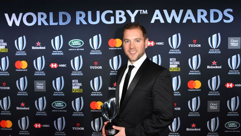 Angus Gardner won Referee of the Year at World Rugby's Awards dinner in Monaco on Sunday