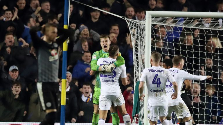 Peacock-Farrell celebrates his late penalty save