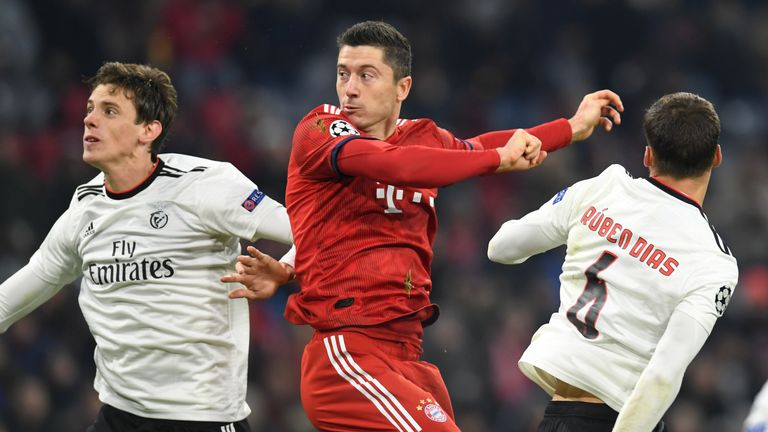 Bayern beat Benfica 5-1 in the Champions League