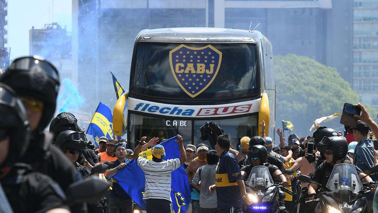 The Boca Juniors bus was attacked