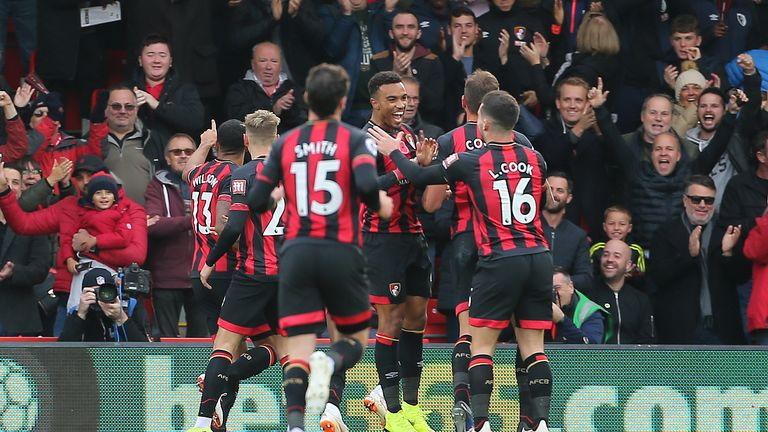 Bournemouth are up from 13th to sixth, with seven more points