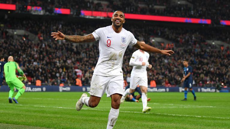 Callum Wilson celebrates his debut goal
