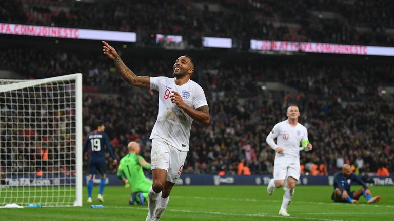 Callum Wilson scored on his England debut against the USA earlier this season