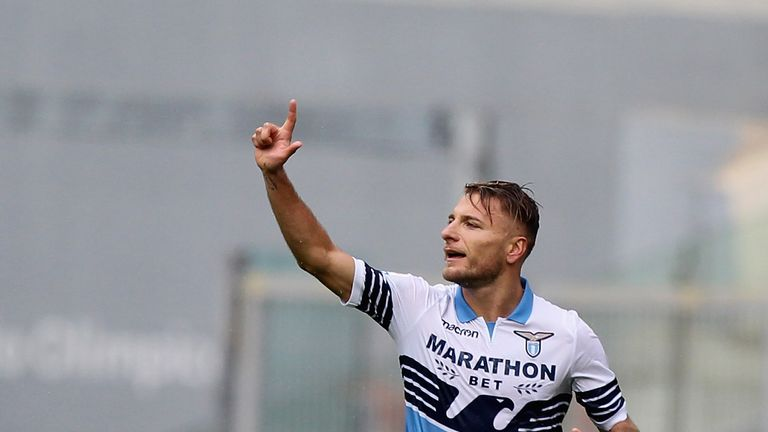 Ciro Immobile scored twice - before the woodwork denied him his hat-trick