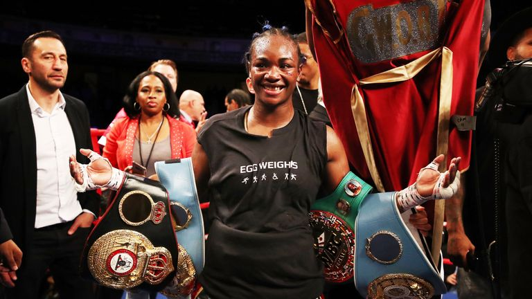 Shields has won world titles at middleweight and super-middleweight