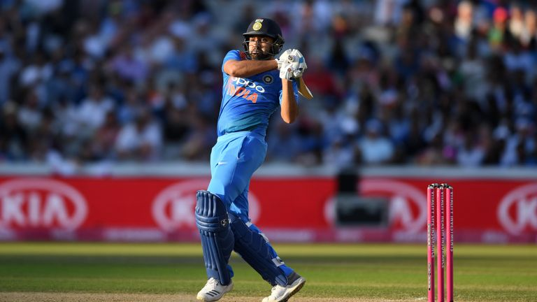 Rohit Sharma breaks India T20I record with century against Windies