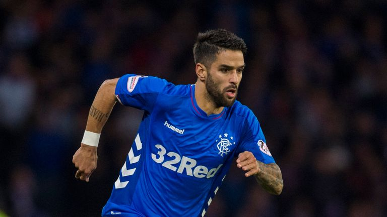 Daniel Candeias was sent-off in stoppage time at the end of Rangers' win over St Mirren at the weekend