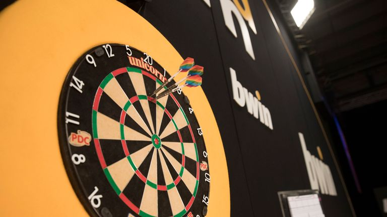 Rainbow darts flights are set to be used in some of the warm-ups at the Grand Slam of Darts this weekend as part of the PDC's support for Rainbow Laces (pics: Lawrence Lustig)