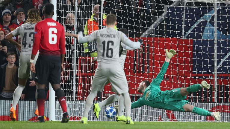 David de Gea produced a remarkable save to keep the scores level