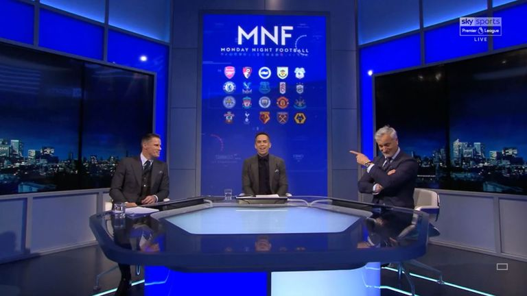 Ginola joined Carragher in the MNF studio