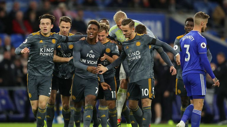 Demarai Gray scored Leicester's winner during their emotional win over Cardiff last weekend in their first match since the owner's passing