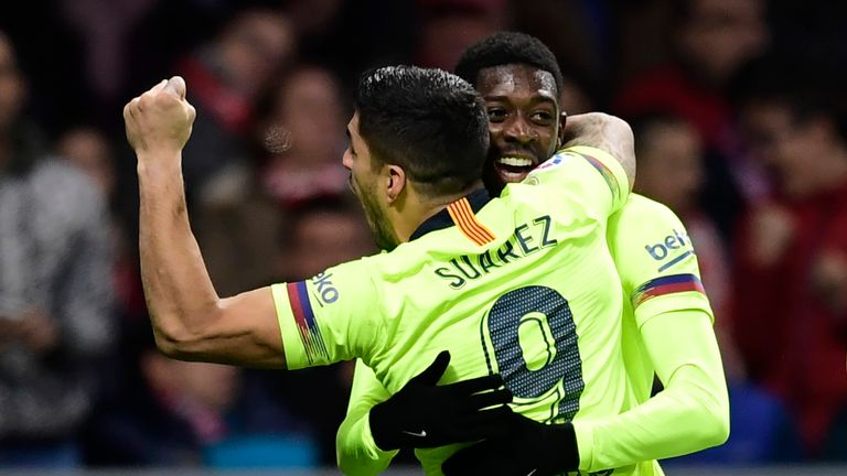 Ousmane Dembele hit a late equaliser for Barcelona