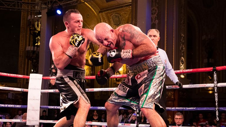 Denis Lebedev defeated Mike Wilson on points in Monte Carlo
