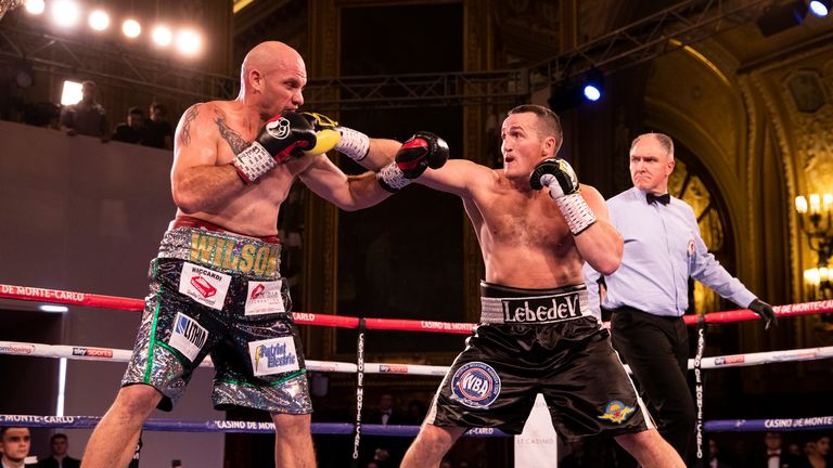 Denis Lebedev claimed a unanimous decision over Mike Wilson in his last fight
