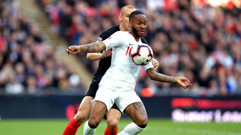 Raheem Sterling will hope to be involved in the Champions League final with Manchester City