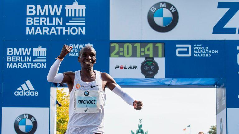 Eliud Kipchoge set the current marathon world record in September