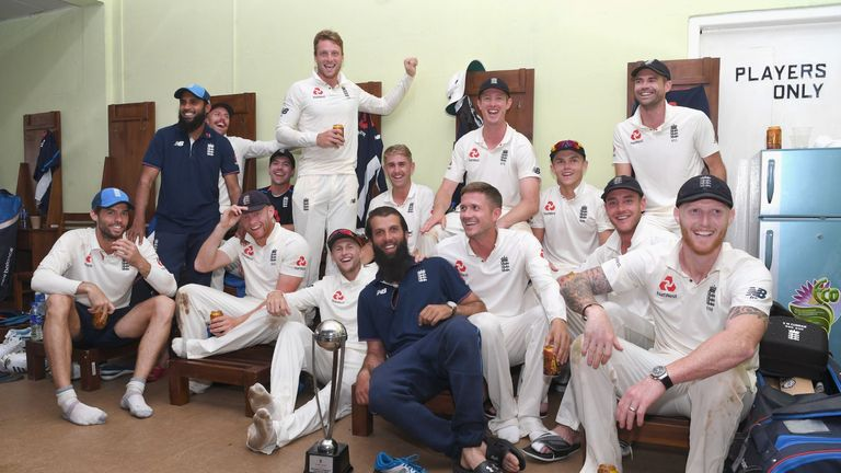 England celebrate their 3-0 whitewash over Sri Lanka