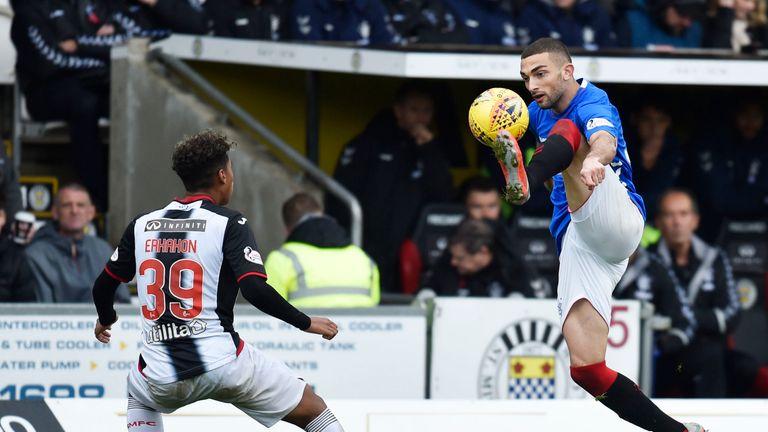 Eros Grezda made his full Rangers debut against St Mirren