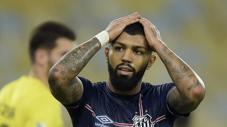 Gabriel Barbosa is currently on loan at Santos but could join Everton