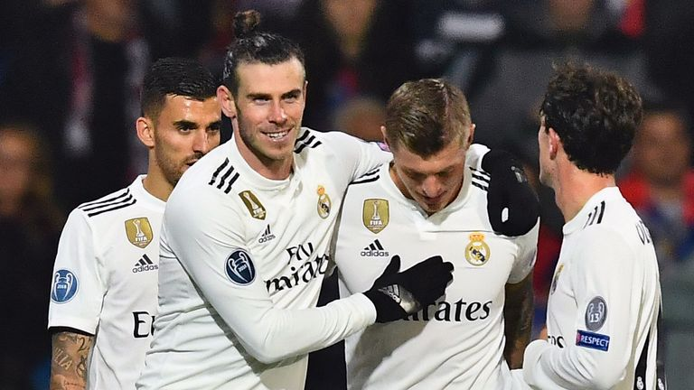 Gareth Bale netted the fourth of the evening for Real Madrid