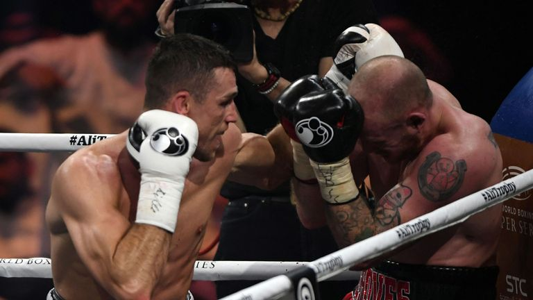 Callum Smith knocked out George Groves to win the WBSS final