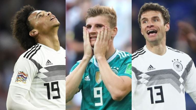 Germany lost 6 matches in 2018 - their highest total ever in a single calendar year