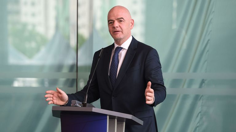 Gianni Infantino says it is up to FIFA 'to protect football'