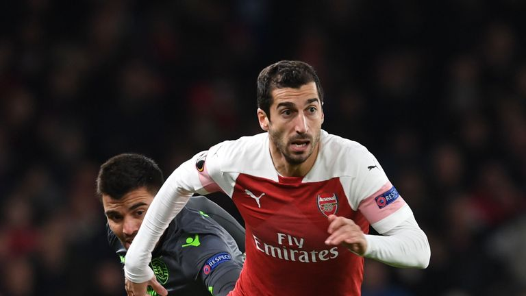 Henrikh Mkhitaryan could miss the Europa League final against Chelsea