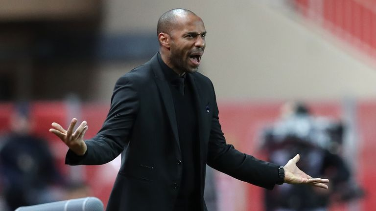 Thierry Henry saw his team humbled 4-0 by PSG