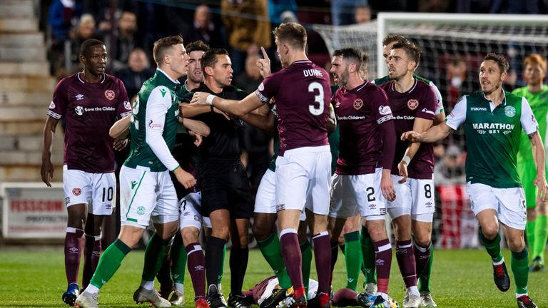 The Edinburgh derby was a heated affair