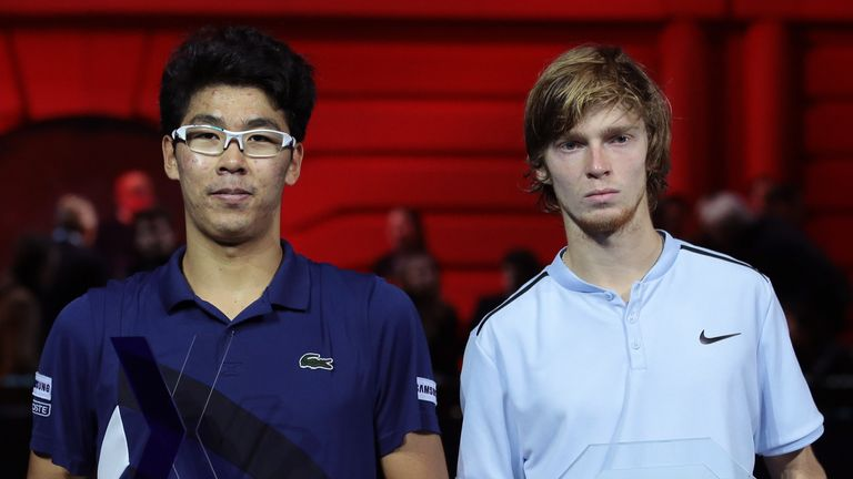 Hyeon Chung defeated Andrey Rublev in the final last year