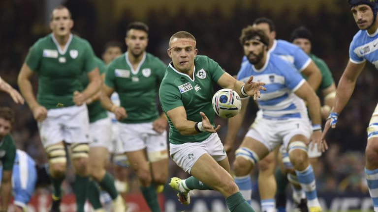 Ian Madigan started at fly-half against Argentina at the 2015 World Cup