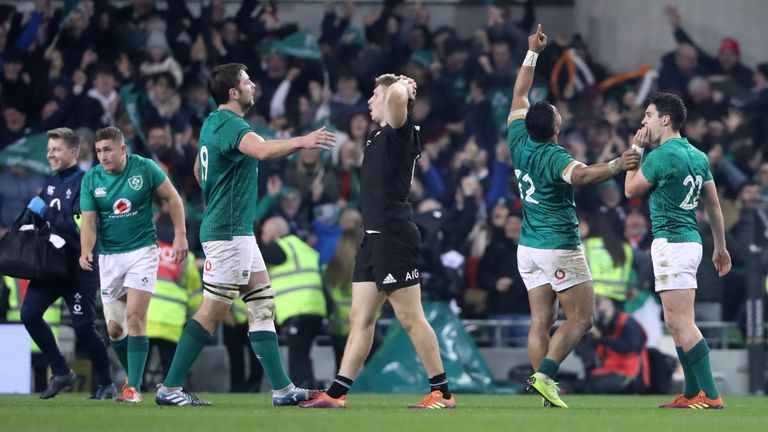 Ireland beat New Zealand in Dublin for the first time last November