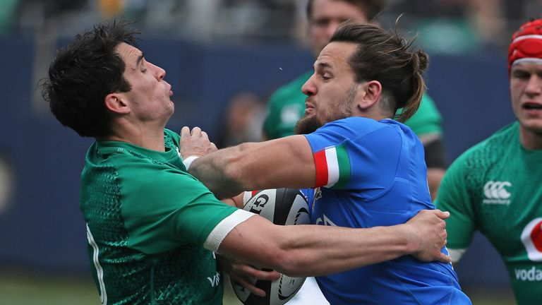 Ireland 54-7 Italy  Jordan Larmour scores hat-trick in Chicago ... 03236fa0a