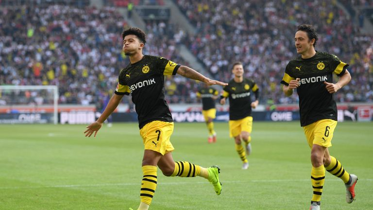 Sancho has become a star in the Bundesliga since leaving City